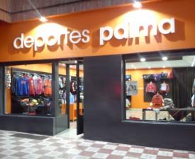 Fachada de la Tienda de Deportes Palma en la Chana